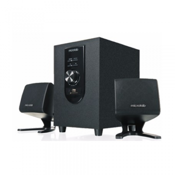 SISTEMA DE AUDIO MULTIMEDIA MICROLAB M108U 2.1 12W RMS SD USB RADIO FM