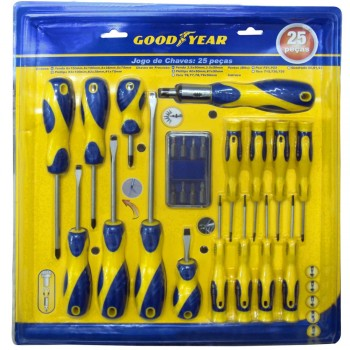 SET 25 DESTORNILLADORES GOOD YEAR 900550 PLANA PHILIPS TORX