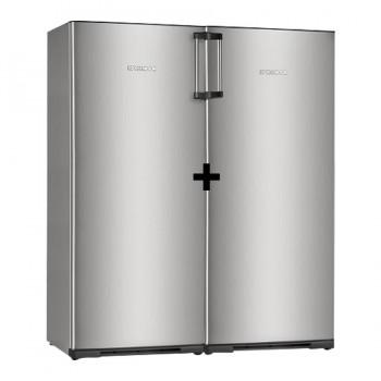 Combo Heladera Freezer Koh-i-noor Clase A Acero