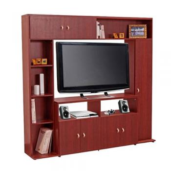 MODULAR LCD PLATINUM 557 ESPACIO TV MELAMINA CEDRO