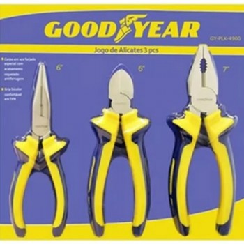 Set De Tres Alicates Y Pinzas Good Year Gyplk-4900