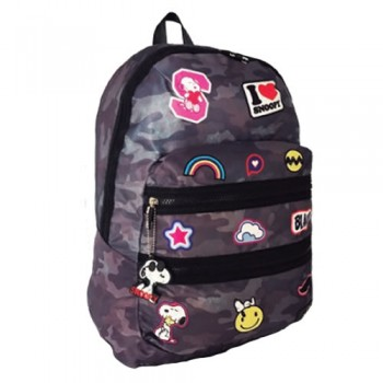 MOCHILA SNOOPY BACK TO SCHOOL SNP5308 DOBLE CIERRE