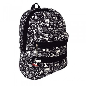MOCHILA SNOOPY BACK TO SCHOOL SNP5309 DOBLE CIERRE