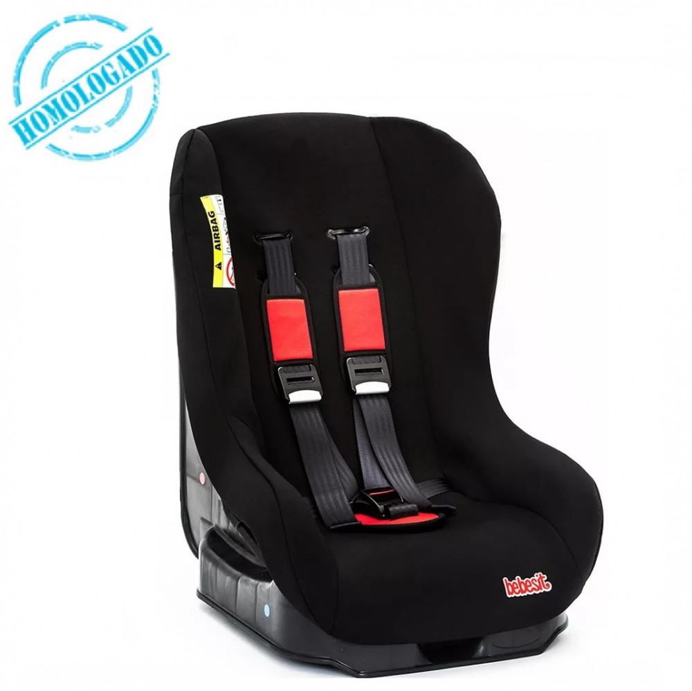 Butaca bebe homologada auto bebesit 9012 negro rojo for Butaca para auto bebe