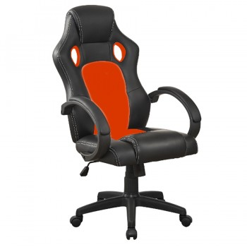 Silla Gamer Reclinable Negro Rojo OC053R