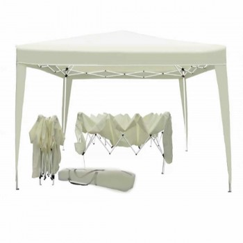 CARPA DE JARDIN PLEGABLE GAZEBO 3X3 PORTABLE COLOR BEIGE.