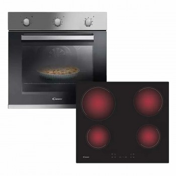 Horno Eléctrico Candy Fcp602xl + Anafe Vitrocerámico CANDY Ch64ccb