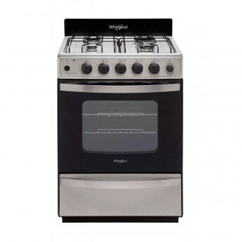 Cocina Whirlpool Wfx57dw Gas Natural Inox 56 Cm