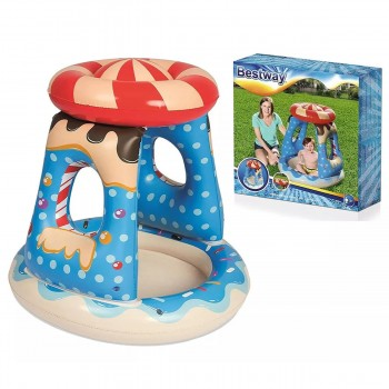 Pileta Inflable Bebe Candy C/ Techo Bestway 52270 Candyville