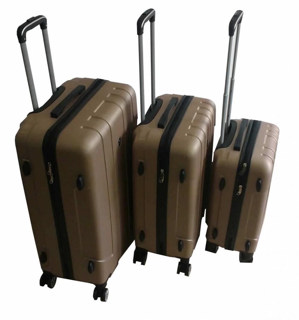 código Morse Anormal eficaz  Set 3 Valijas Rigidas Premium De Viaje 4 Ruedas Dorado - Tio Musa
