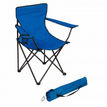 Sillon Director Plegable Acero Bj-1803 Azul