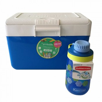 Combo Escolar Lunchera Garden Life Botella Rubbermaid