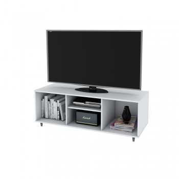 Rack Tv Centro Estant Mt4000 Blanco